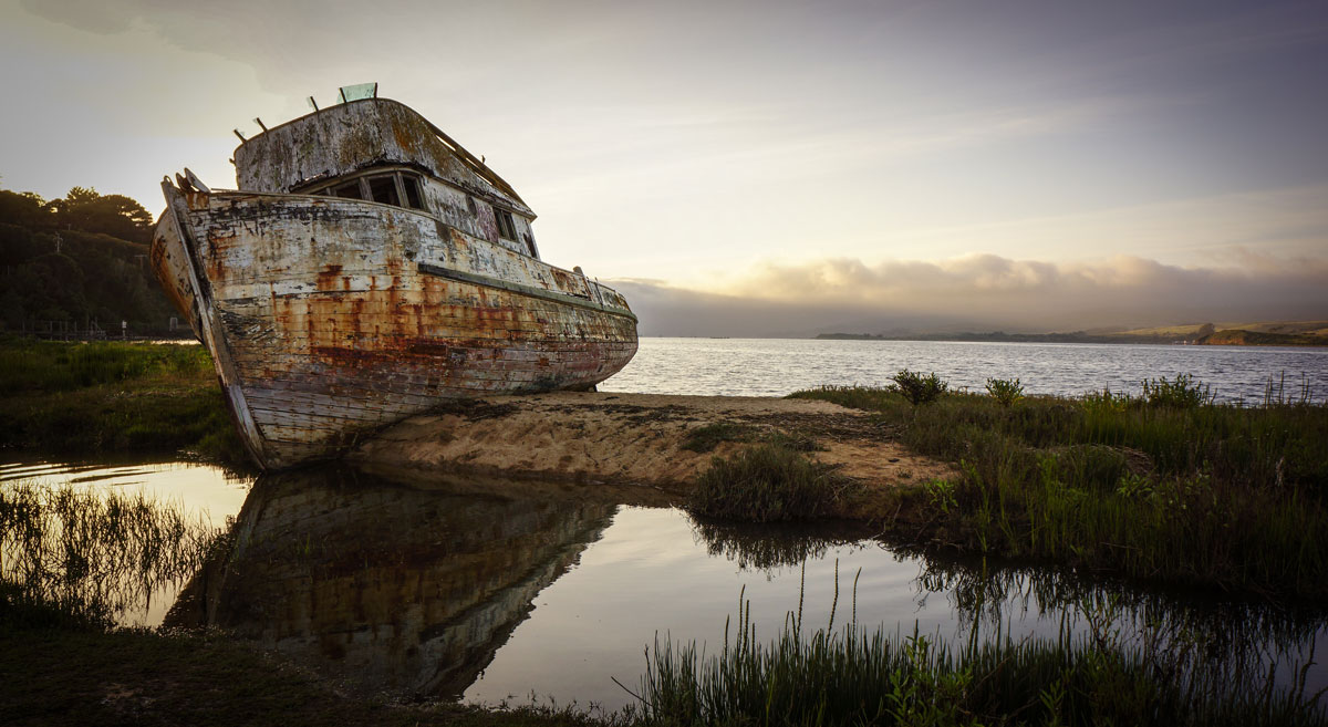 point reyes shipwreck Picture of the Day: The Point Reyes Shipwreck Before It Burned Down