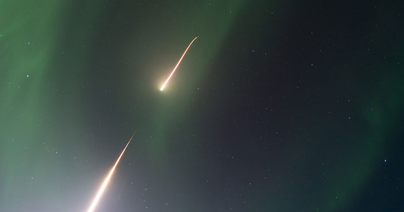 rocket going through aurora borealis northern lights nasa cover Picture of the Day: Piercing Aurora