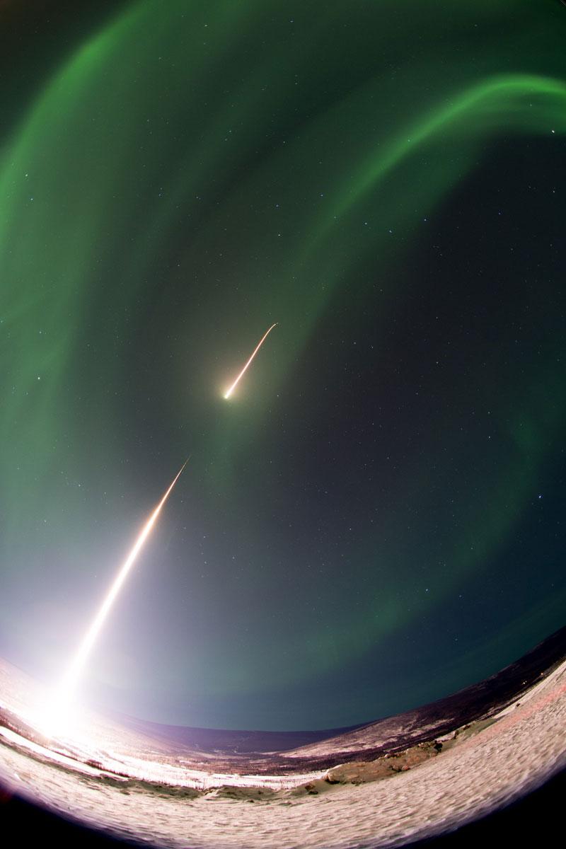 rocket going through aurora borealis northern lights nasa Picture of the Day: Piercing Aurora