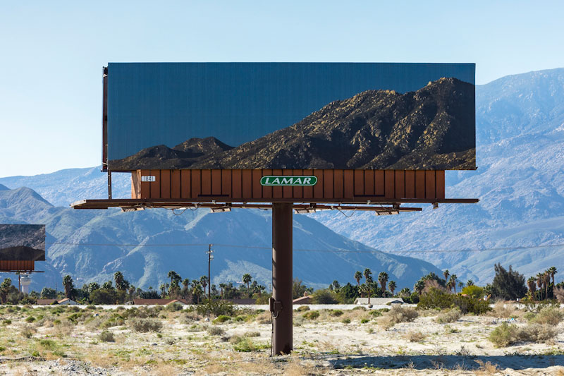 Artist Replaces Billboards with Photos of the Landscapes
