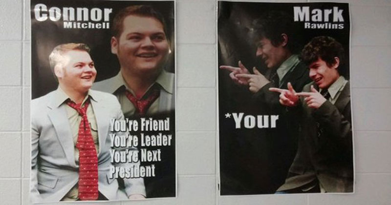 your poster sign student election The Shirk Report – Volume 411