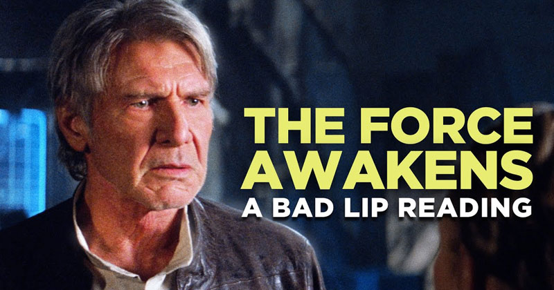 A Bad Lip Reading of The Force Awakens with Mark Hamill as HanSolo