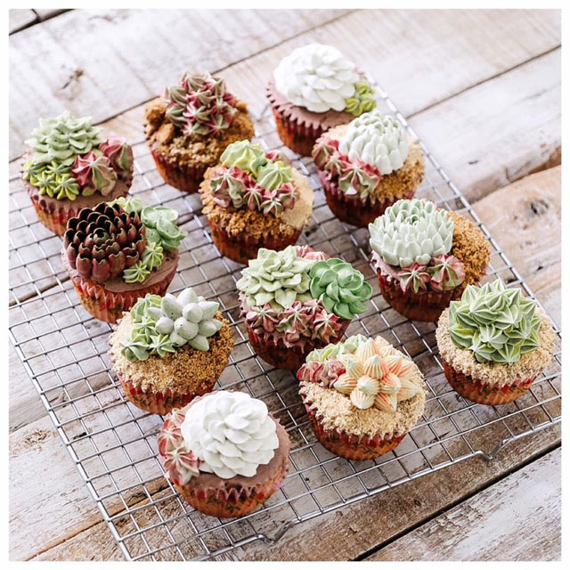 buttercream frosting plant cakes by ivenoven 1 These Plant Cakes Made with Buttercream Frosting Look Incredible