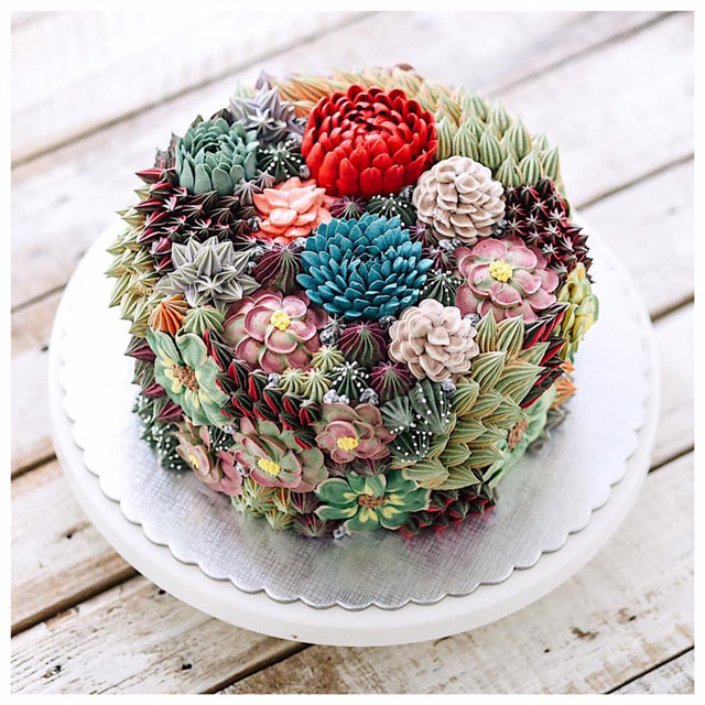 buttercream frosting plant cakes by ivenoven 14 These Plant Cakes Made with Buttercream Frosting Look Incredible