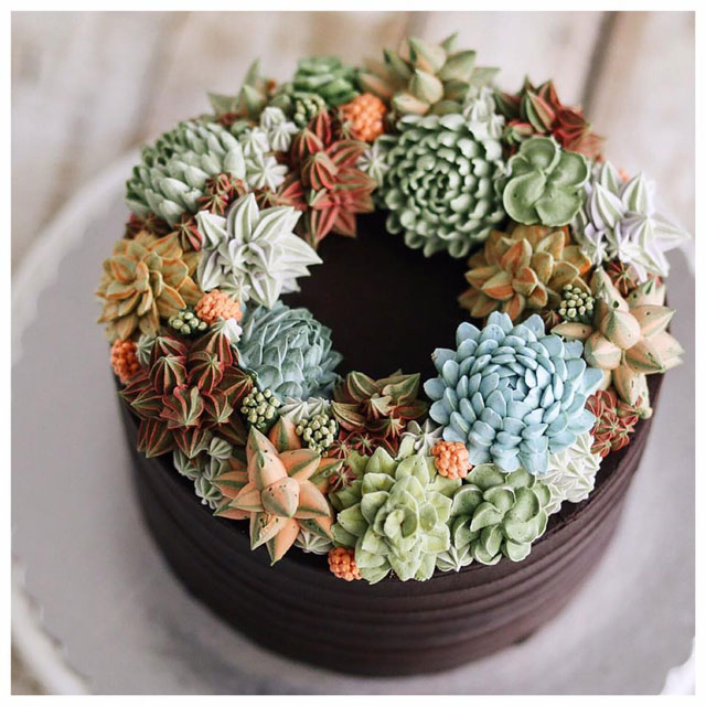 buttercream frosting plant cakes by ivenoven 3 These Plant Cakes Made with Buttercream Frosting Look Incredible