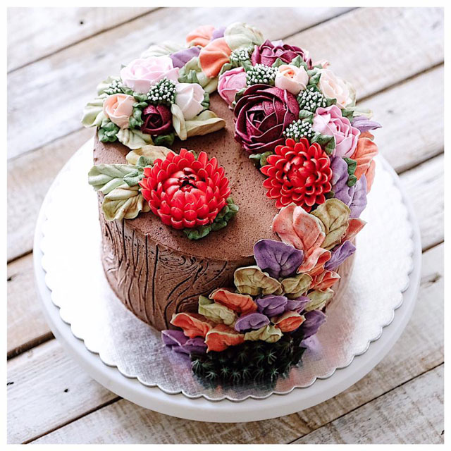 buttercream frosting plant cakes by ivenoven 7 These Plant Cakes Made with Buttercream Frosting Look Incredible