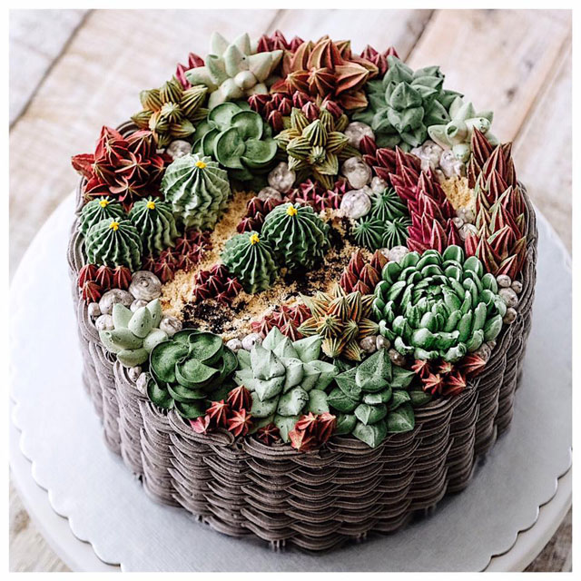 buttercream frosting plant cakes by ivenoven 8 These Plant Cakes Made with Buttercream Frosting Look Incredible
