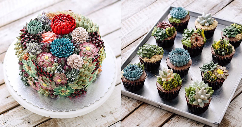 These Plant Cakes Made with Buttercream Frosting Look Incredible