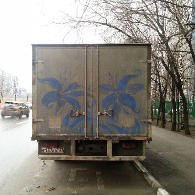 dirty car art by nikita golubev 2 Nikita Golubev Turns Dirty Cars Into Works of Art