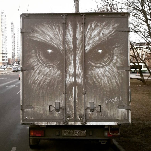 dirty car art by nikita golubev 4 Nikita Golubev Turns Dirty Cars Into Works of Art