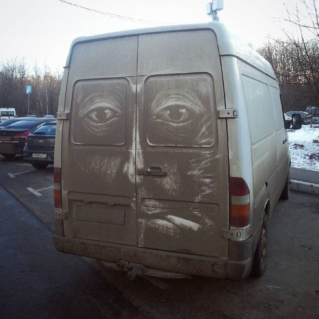 dirty car art by nikita golubev 5 Nikita Golubev Turns Dirty Cars Into Works of Art