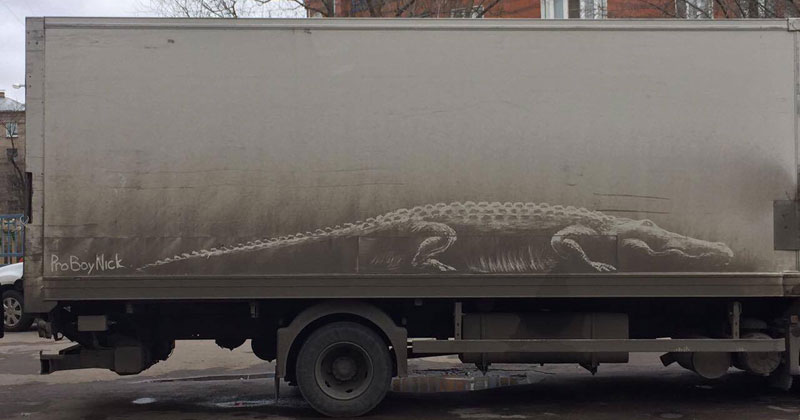 Nikita Golubev Turns Dirty Cars Into Works of Art
