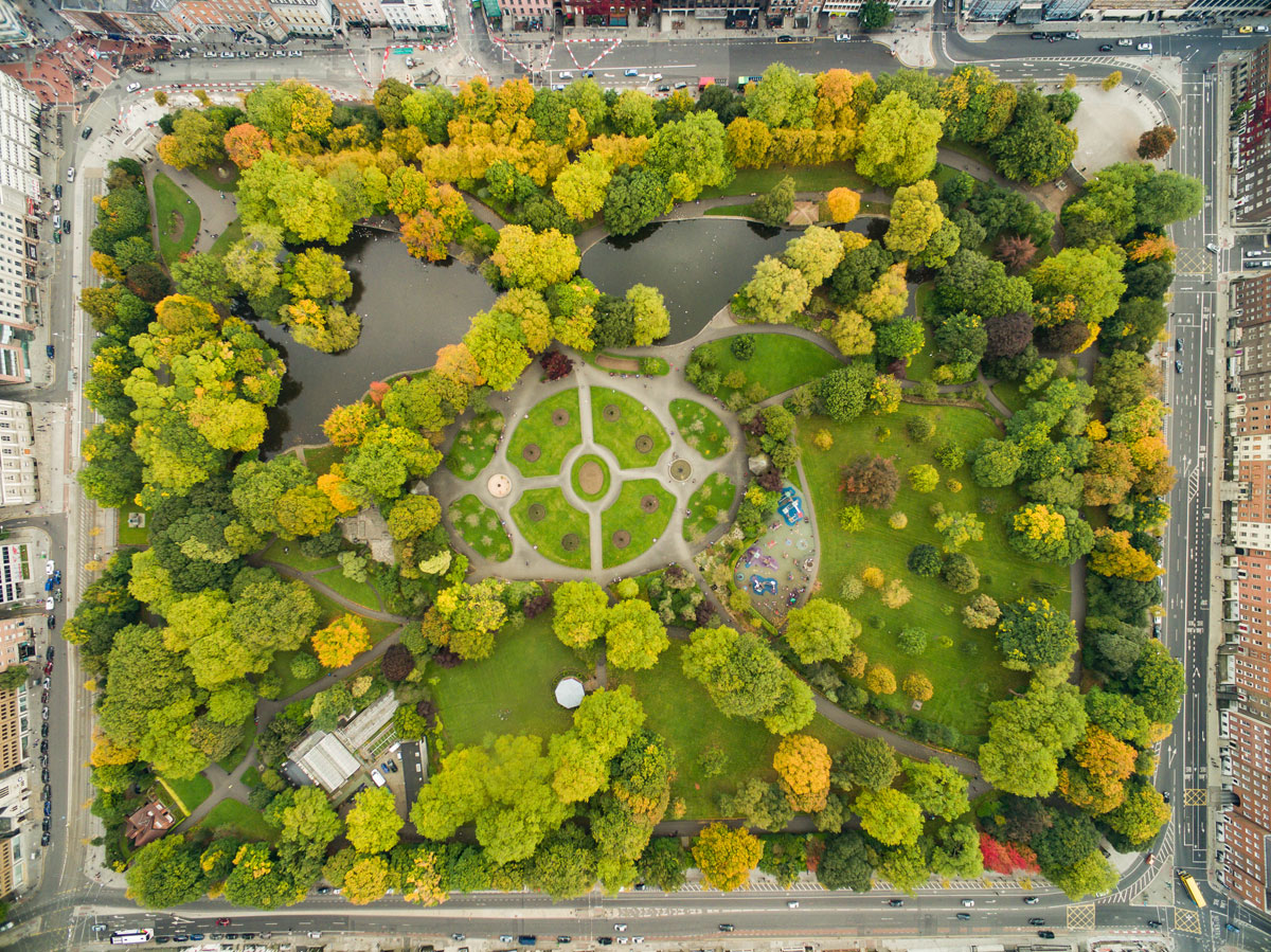 Picture Of The Day St Stephens Green Dublin From Above Twistedsifter