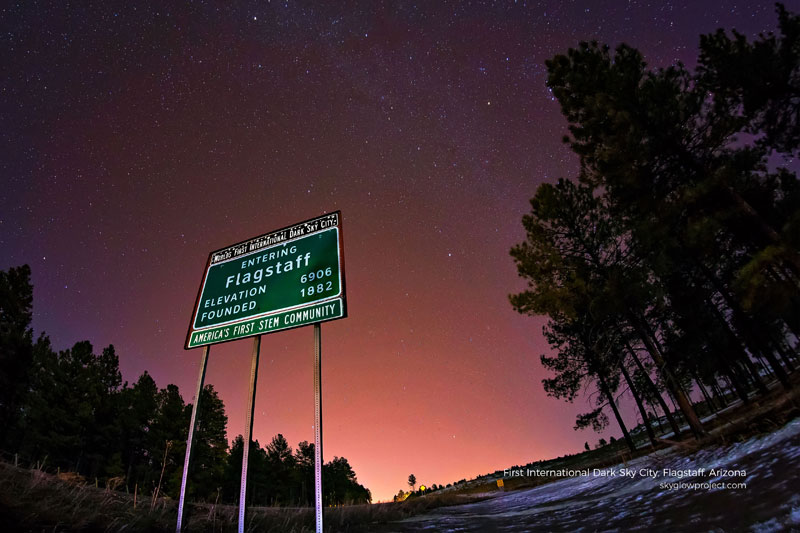 flagstaff 4 skyglow desktop wallpapers In Search of Americas Darkest Skies (24 Photos)