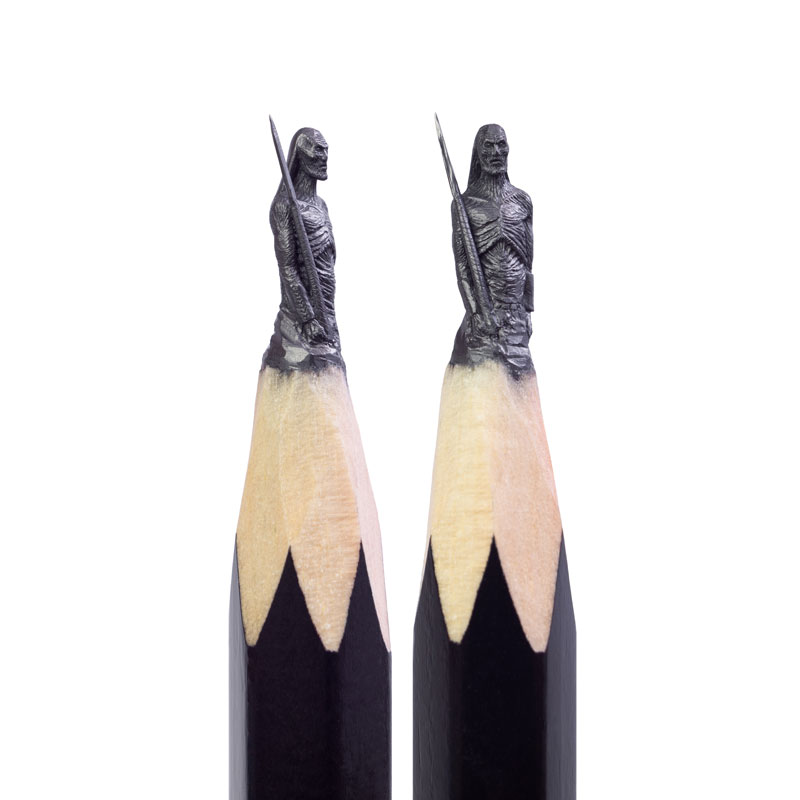 game of thrones carved into tip of pencil by salavat fidai 7 Amazing Artist Carves Game of Thrones Themed Sculptures Onto the Tips of Pencils