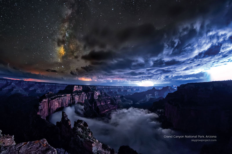 grand canyon 3 skyglow desktop wallpapers In Search of Americas Darkest Skies (24 Photos)