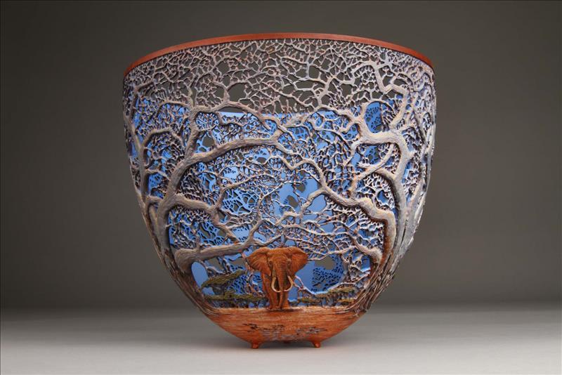 hand carved wooden bowls by gordon pembridge 15 This Artist Hand Carves Wooden Bowls Inspired by His Kenyan Roots