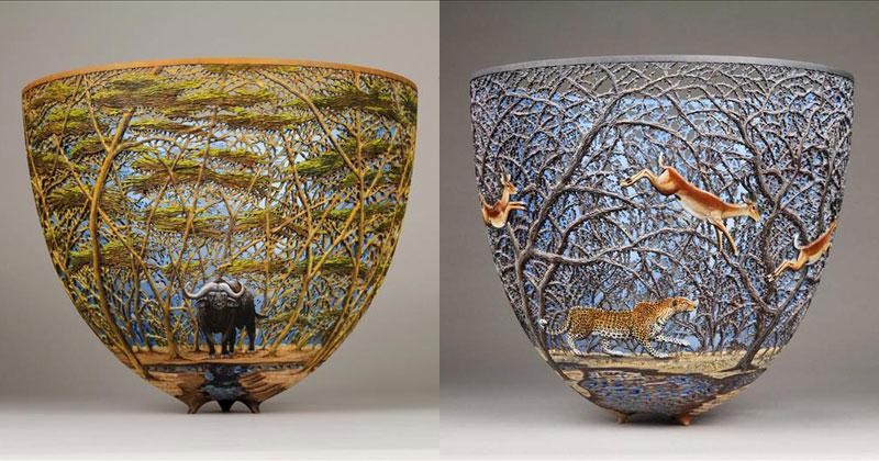 hand carved wooden bowls by gordon pembridge 16 This Artist Hand Carves Wooden Bowls Inspired by His Kenyan Roots