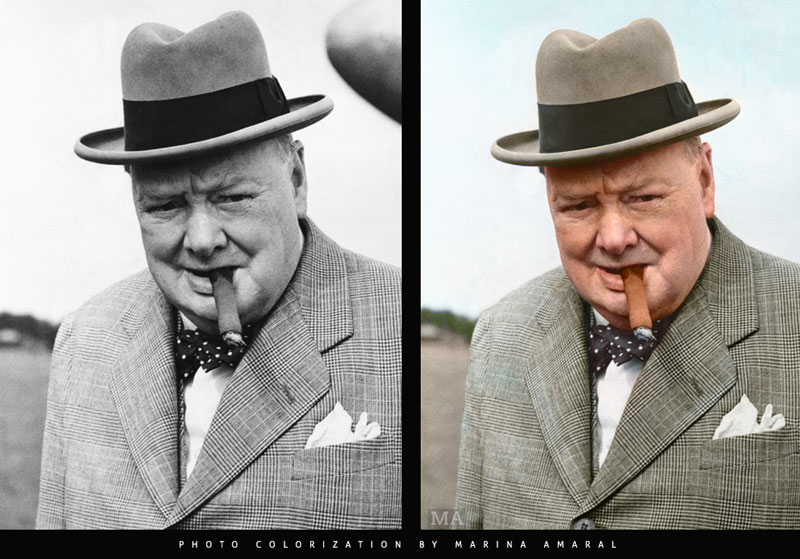 Historic black and white photos colorized by marina amaral 11 21 year old artist brings history