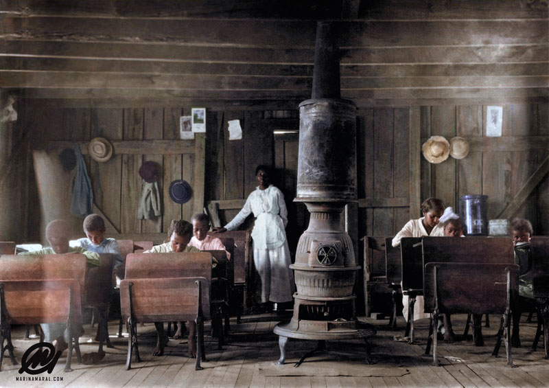 historic black and white photos colorized by marina amaral 6 21 Year Old Artist Brings History to Life Through Color (18 photos)