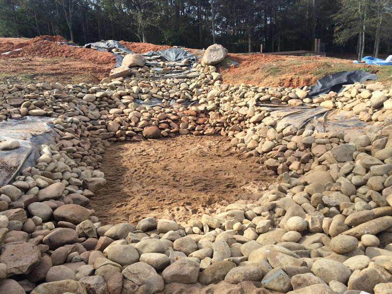instead of an in ground swimming pool this guy built his own natural swim pond 18 Forget an In Ground Swimming Pool, this Guy Built His Own Natural Swim Pond!