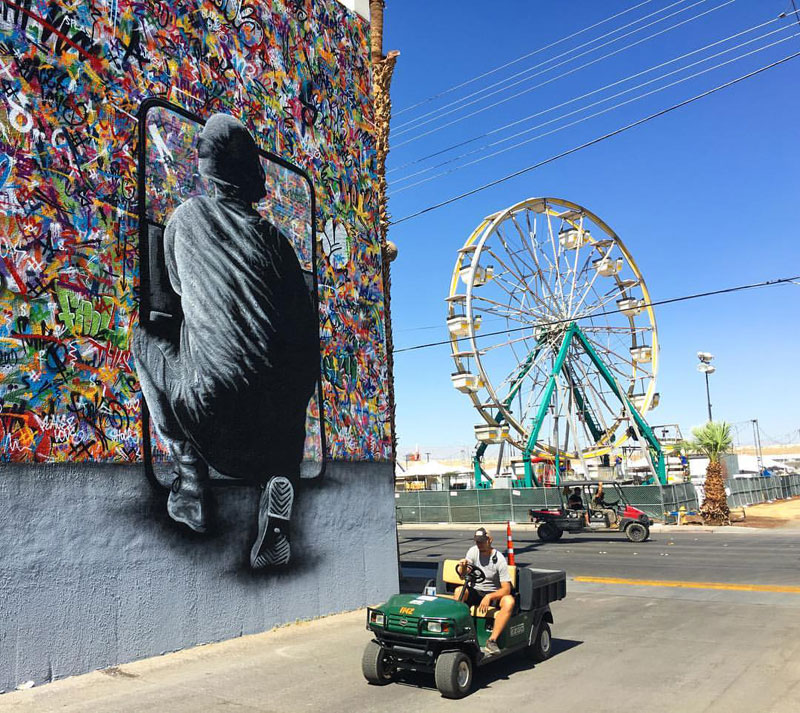 martin whatson street art 9 Artist Incorporates Grayscale Characters Into His Colorful Murals