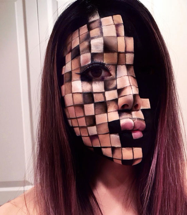 mimi choi mkeup artistry 10 This Makeup Artist Can Transform Her Face Into a Glitch in the Matrix