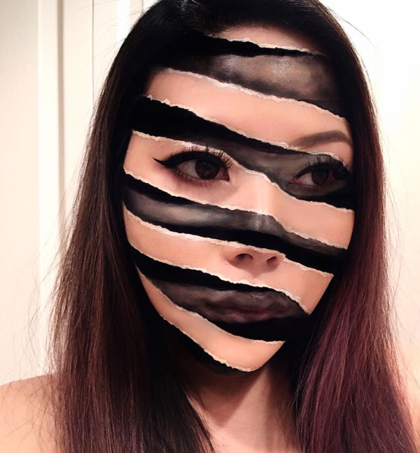 mimi choi mkeup artistry 11 This Makeup Artist Can Transform Her Face Into a Glitch in the Matrix