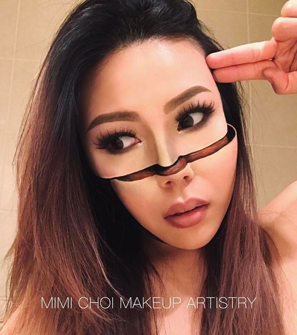 mimi choi mkeup artistry 15 This Makeup Artist Can Transform Her Face Into a Glitch in the Matrix