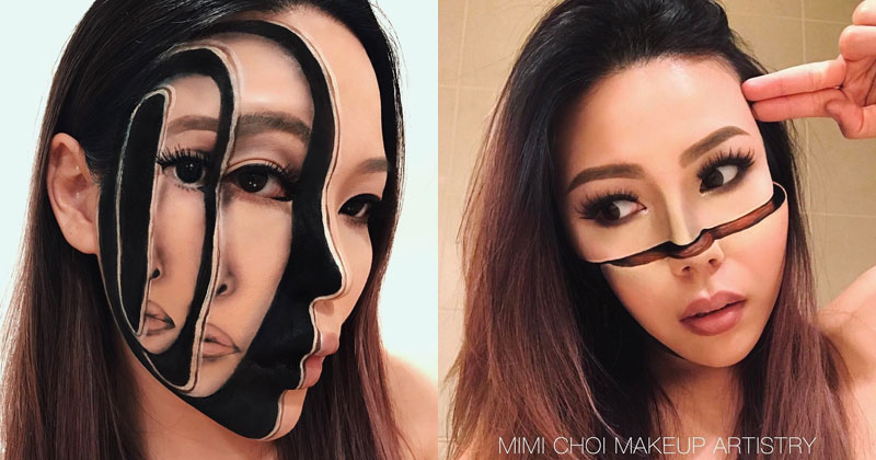 mimi choi mkeup artistry 16 This Makeup Artist Can Transform Her Face Into a Glitch in the Matrix