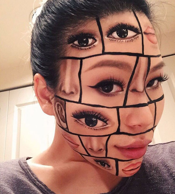 mimi choi mkeup artistry 2 This Makeup Artist Can Transform Her Face Into a Glitch in the Matrix