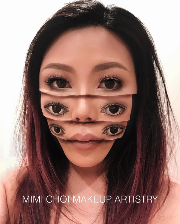 mimi choi mkeup artistry 6 This Makeup Artist Can Transform Her Face Into a Glitch in the Matrix