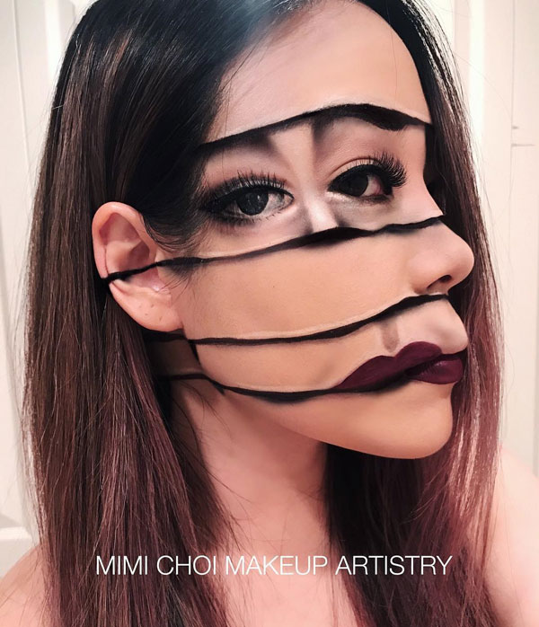 mimi choi mkeup artistry 8 This Makeup Artist Can Transform Her Face Into a Glitch in the Matrix