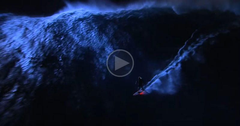 Surfing Jaws at Night Looks as Crazy as itSounds