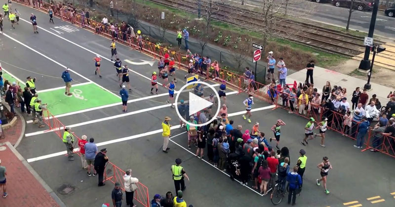 The Simple Technique at the Boston Marathon that Lets Pedestrians Cross the Street