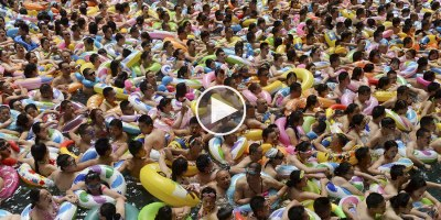 A Wave Pool in China During a Heat Wave