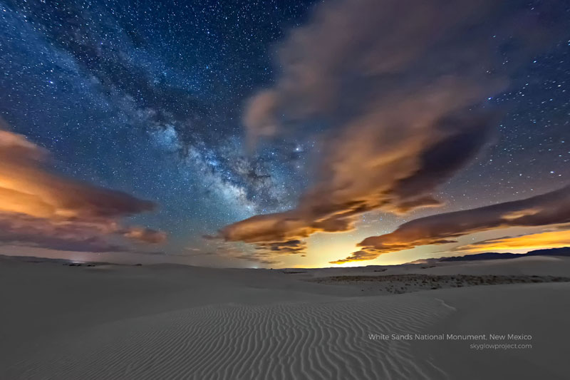 white sands 1 skyglow desktop wallpapers In Search of Americas Darkest Skies (24 Photos)