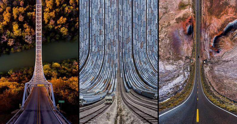 11 Surreal Folded Landscapes by AydınBüyüktaş