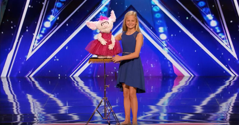 12 Year Old Ventriloquist Brings Down the House with Her SingingRoutine