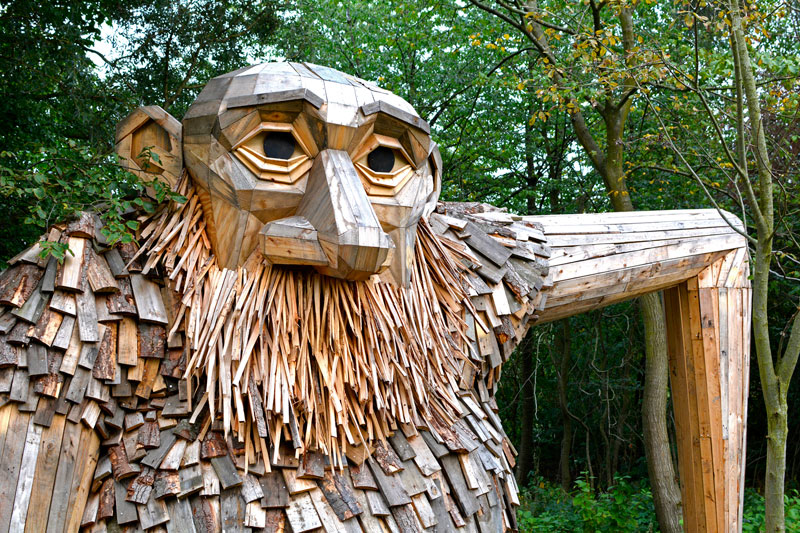 forgotten giants by thomas dambo 9 Artist Builds Forest Giants from Salvaged Materials and Hides Them in the Woods for People to Find