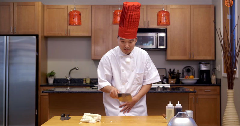 Hibachi Chef Tries To Make Meal On RegularTable