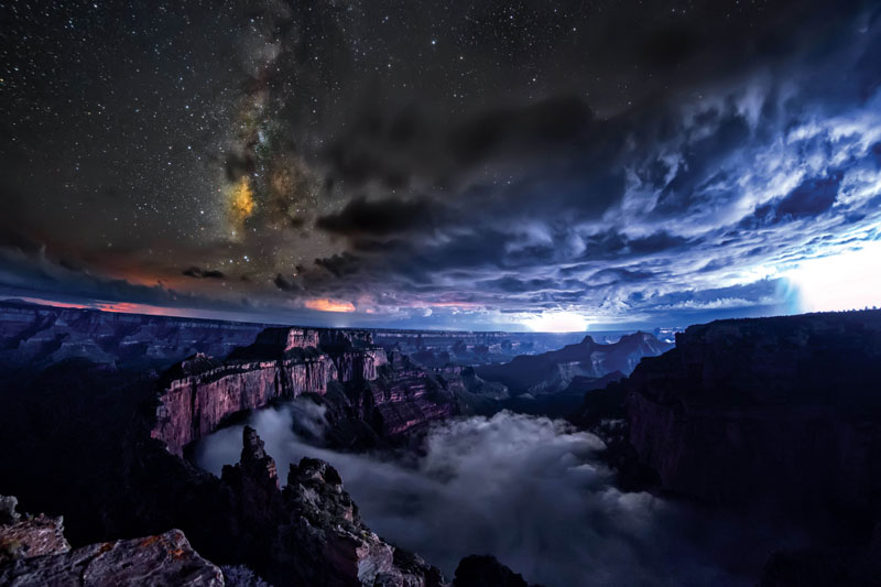 kaibab elegy skyglowproject harun mehmedinovic 1 There was a Full Cloud Inversion at the Grand Canyon and this Guy Got an Unreal Timelapse of It