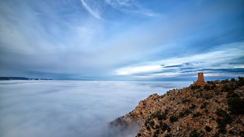 kaibab elegy skyglowproject harun mehmedinovic 11 There was a Full Cloud Inversion at the Grand Canyon and this Guy Got an Unreal Timelapse of It