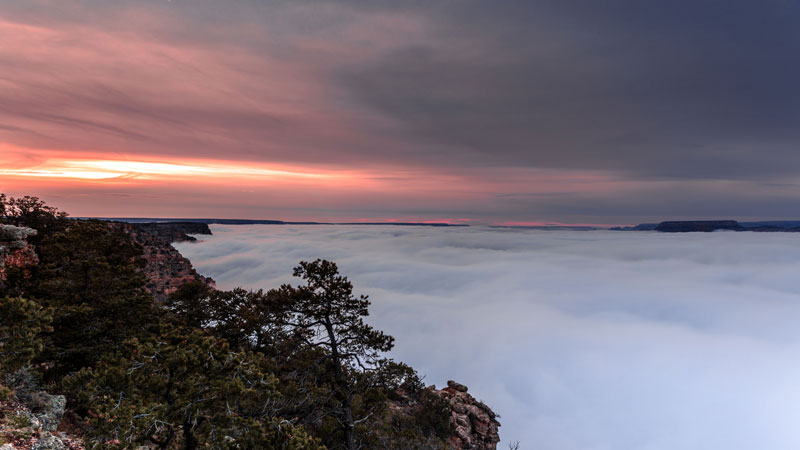 kaibab elegy skyglowproject harun mehmedinovic 3 There was a Full Cloud Inversion at the Grand Canyon and this Guy Got an Unreal Timelapse of It