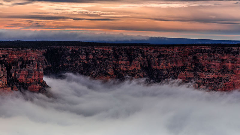 kaibab elegy skyglowproject harun mehmedinovic 6 There was a Full Cloud Inversion at the Grand Canyon and this Guy Got an Unreal Timelapse of It