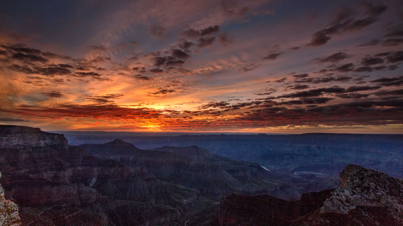 kaibab elegy skyglowproject harun mehmedinovic 9 There was a Full Cloud Inversion at the Grand Canyon and this Guy Got an Unreal Timelapse of It