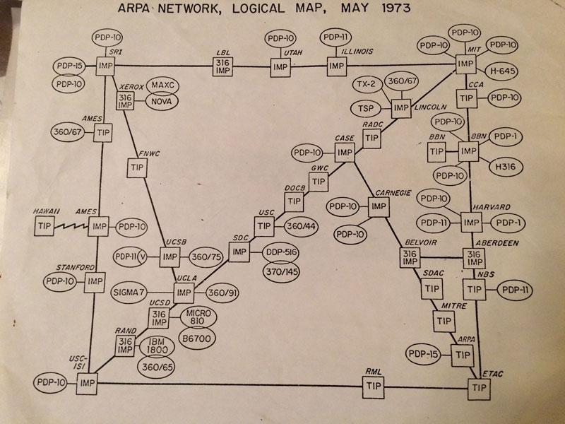 map of the internet 1973 8 Random Maps That Make You Go Hmmm