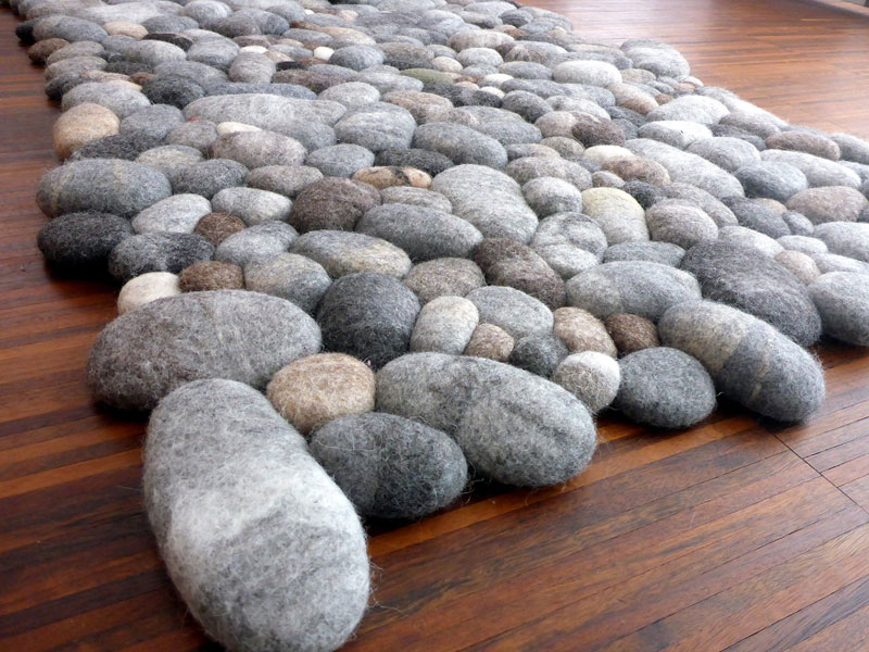 plush stone rungs by martina schuhmann flussdesign 3 These Stone Rugs are Actually Plush and Squishy