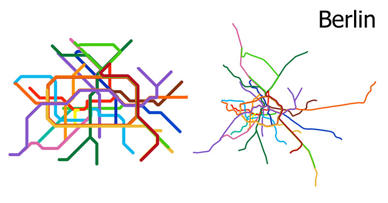 Nyc Subway Map Vs Actual.15 Subway Maps Compared To Their Actual Geography Twistedsifter
