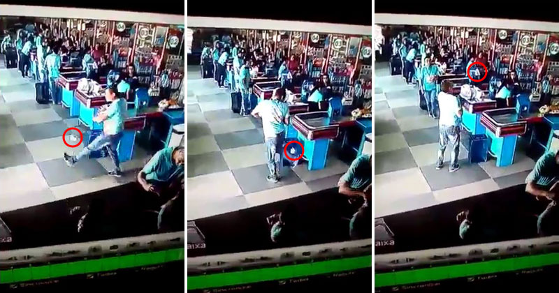 Guy Leaving Grocery Store Accidentally Drops Something—Then Remembers He's Brazilian